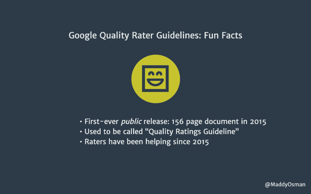 Google Search Quality Rater Guidelines Fun Facts