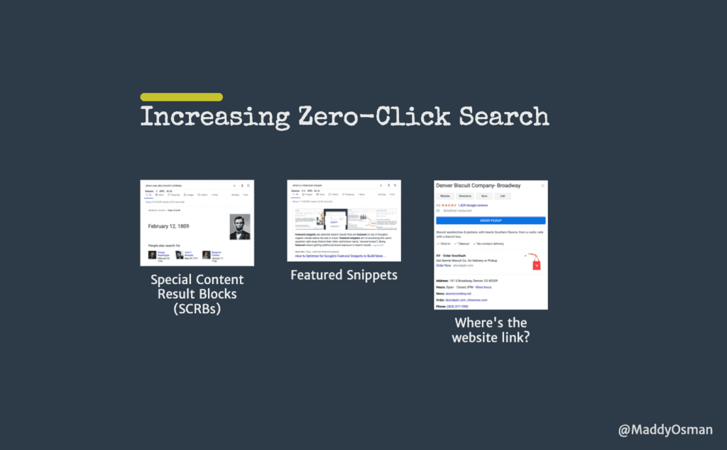 Increasing Zero-Click Search