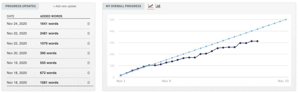 NaNoWriMo productivity insights