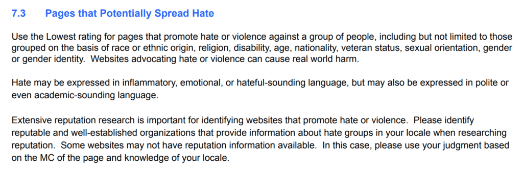 Pages that Potentially Spread Hate
