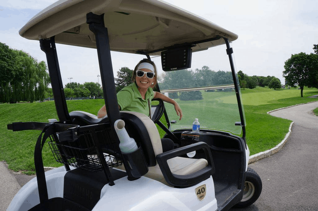 Maddy help with charity golf tournaments