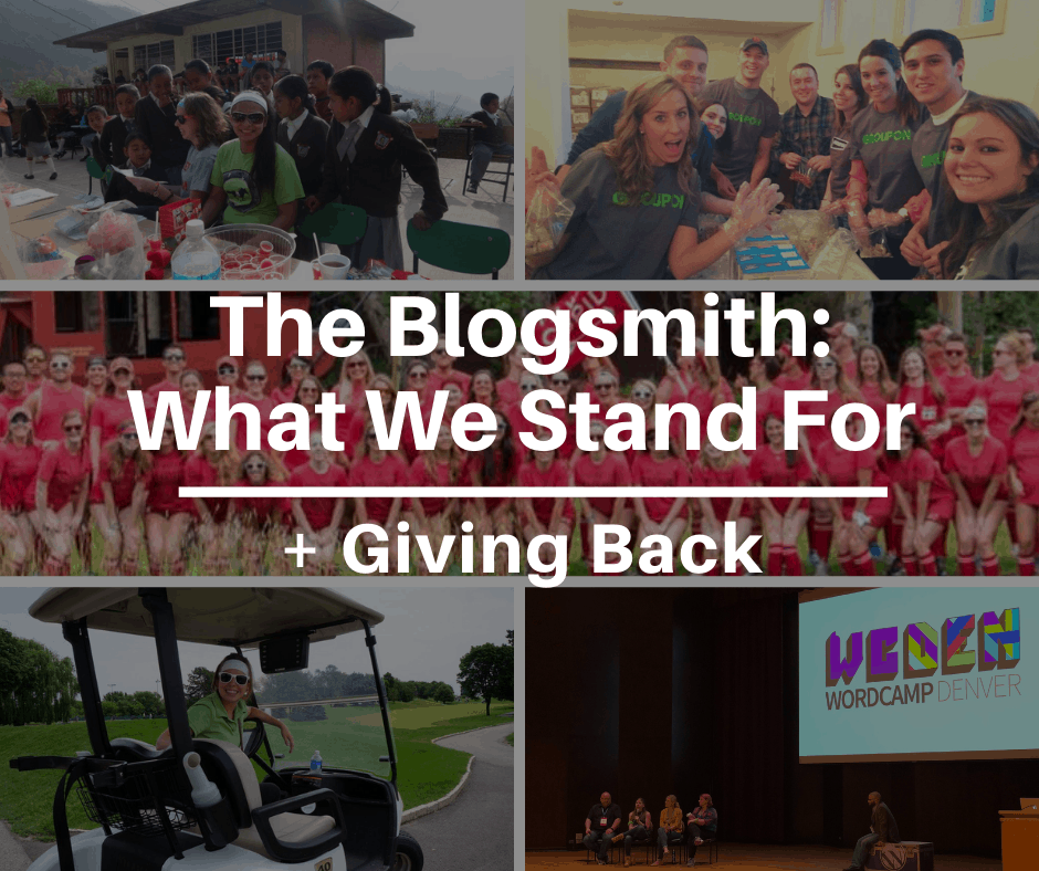 What The Blogsmith Stands For + Giving Back