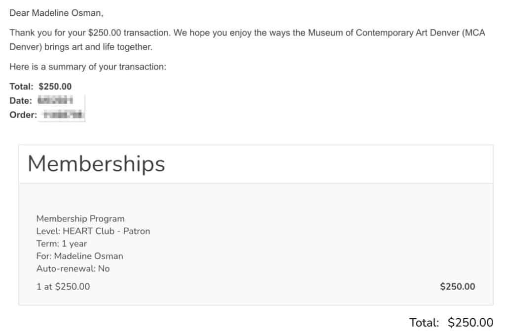 Denver Contemporary Art Museum Donation June 2021