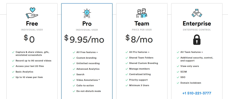 CloudApp Pricing